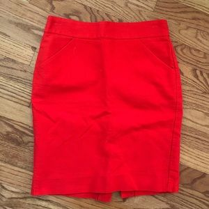 J.Crew No. 2 Pencil skirt double serge cotton red